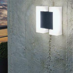 LED Außenwandleuchte Sitia in nickel matt oder anthrazit