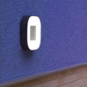 LED Außenwandleuchte, Acrylglas, 16,3x16,3cm 1x 6,3 Watt, 16,30 cm, 16,30 cm