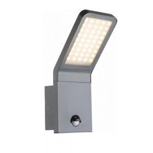 LED Außenwandleuchte, Bewegungsmelder, Aluminium schwarz, LED 9 Watt