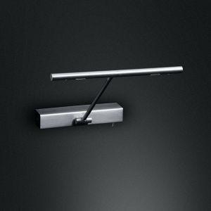 LED Bilderleuchte, schwenkbar mit Schalter - in Chrom