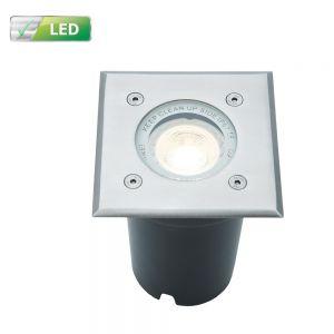 LHG LED Bodeneinbaustrahler, inkl.ED GU10 5,8 Watt, in eckig eckig, 11,00 cm, 11,00 cm, 7,50 cm
