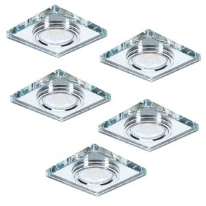 LED 7W Deckeneinbau 5-er Set LED-Hintergrundbeleuchtung eckig