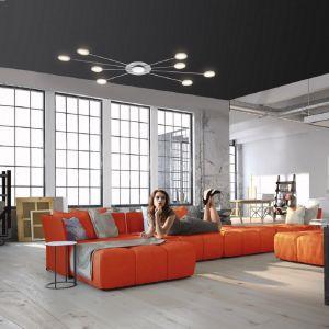 LED Deckenleuchte 8-flammig in Stahl und Chrom