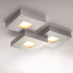LED Deckenleuchte Cubus in Aluminium geschliffen - 3-flammig 3x 8,7 Watt, 6,00 cm, 36,00 cm, 28,00 cm, 3-flammig