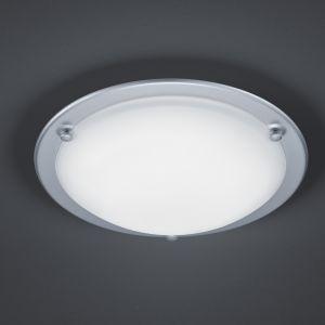LED Deckenleuchte mit satiniertem Glas, Ring Titan titan