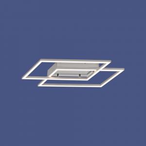 LED Deckenleuchte modern, Rautenform, stufenlos dimmbar per vorhandenem Wandschalter, warmweiß