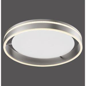 LED Deckenleuchte Q-VITO, silber, Smart Home, rund, Fernbedienung, 2 Größen