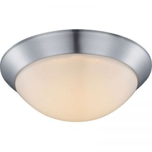 LHG LED Deckenleuchte rund 26cm Nickel matt/Opalglas, 1x12W LED