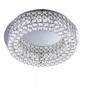 LED Deckenleuchte Vesta mit Kristallglas und Chrom