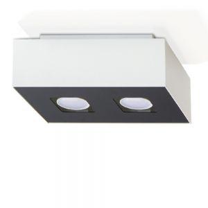 LHG LED Deckenleuchte, 2-flammig, modernes Design, inkl. LED 2x 7 Watt, 14,00 cm, 24,00 cm