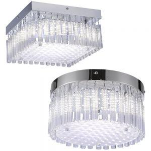 LED Deckenleuchte, Kristall, rund oder eckig