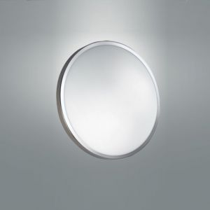 LED Deckenleuchte, rund, D=40cm, LED warmweiß, Chrom chrom