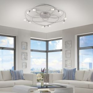 Wohnraum mit LED Deckenleuchten