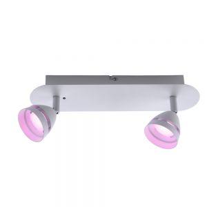 LED Deckenstrahler, 2-flg Smart Home, Lichtfarbe einstellbar, weiß weiß/weiß matt