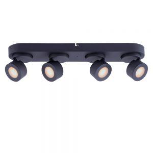 LED Deckenstrahler, 4-flammig, L 55 cm, Smart Home steuerbar, 2 Farben