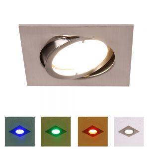 LED Einbauleuchte Lola Down, eckig eckig, 8,50 cm, 6,80 cm