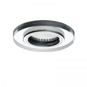 LHG LED Einbauleuchten 5er Set, rund, Glasring, inkl. LED 7 Watt warmweiß