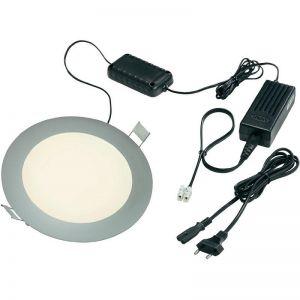 LED Einbaupanel, Aluminium, rund, tageslicht, inkl. Trafo, Zuleitung