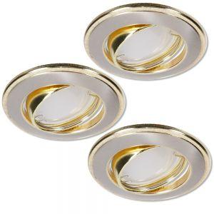 LHG LED Einbaustrahler 3er Set Nickel und Gold 3-fach dimmbar switchmo
