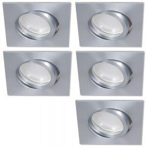 LHG LED Einbaustrahler 5er Set Aluminium eckig 3-fach switchmo dimmbar