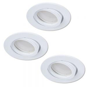 LHG LED Einbaustrahler als 3er-Set in Weiß rund 3-fach dimmbar switchmo