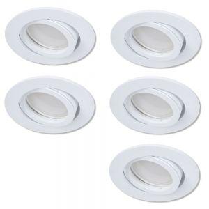 LHG LED Einbaustrahler als 5er-Set in Weiß rund 3-fach switchmo dimmbar