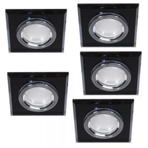LHG LED Einbaustrahler mit schwarzem Glas switchmo 3-fach dimmbar