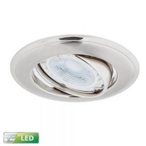 LHG LED Einbaustrahler, Nickel, rund, Schwenkbar, inkl. GU10 5W