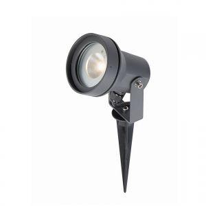 LED Erdspießstrahler Metall grau , inkl. 1x 5,2W LED