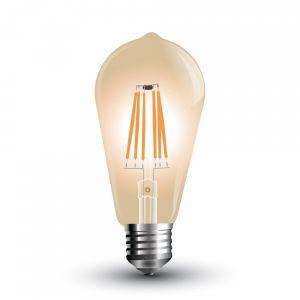 LED Filament Leuchtmittel E27 4 Watt 300 Lumen amberfarbig - dimmbar
