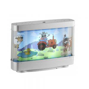 LED Kinderleuchte, Motiv, Bauernhof, Schalter, dekorativ, bunt