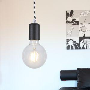 LED Leuchtenpendel, Vintage-Look, E27 inkl. LED Globe, Farbe wählbar