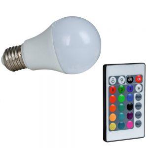 LED Leuchtmittel Glühlampenform 6 Watt RGB inklusive Fernbedienung