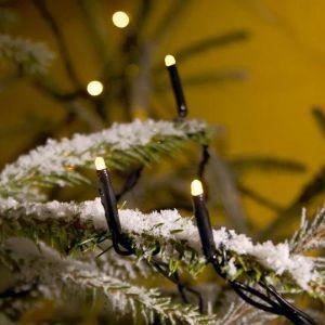 LED Lichterkette für Außen, 200 Dioden warm weiß, Länge 4184cm