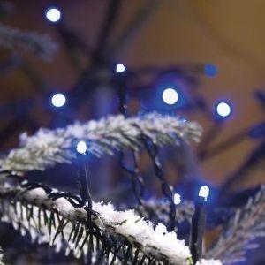 LED Lichterkette für Außen, 40 Dioden in blau, Länge 1624cm