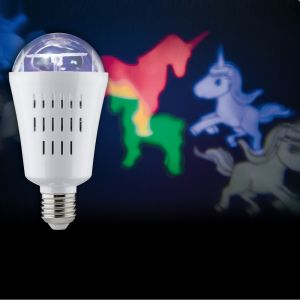 LED Motion Unicorn 3,5W E27 multicolor projiziert Einhörner