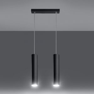 LHG LED Pendelleuchte Lagos 2  schwarz