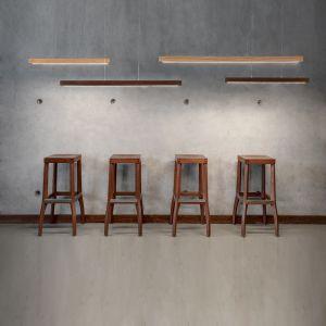 LED Pendelleuchte Smal, 80cm, Holz wählbar
