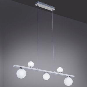 LED Pendelleuchte, 5-flammig, L 95cm, Kugel, Smart Home, Fernbedienung