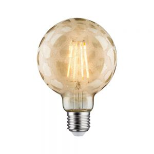 LED Retro-Globe 95 6W E27 750lm Krokoeis Gold Warmweiß dimmbar