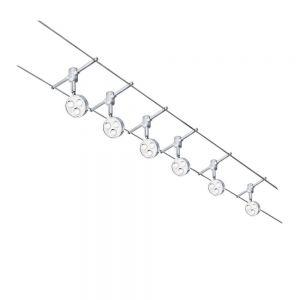 LED Seilsystem mit 6 schwenkbaren Spots