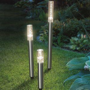 LED Solar Leuchtstäbe im 3er-Set, warmweiß