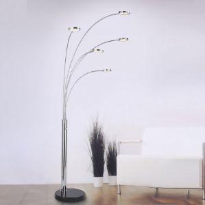LED Standleuchte, Stahl, Chrom, dimmbar, warmweiß, H= 205cm