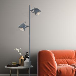 LED Stehleuchte Mexlite in Beton-Optik , Fußschalter