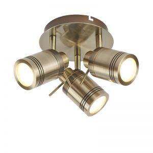 LED Strahler Samson in Alt Messing - Deckenrondel
