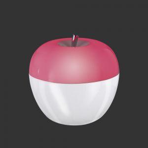 LED Tischleuchte Nachtlicht Apfel - RGB Farbwechsel - An- und Ausblasfunktion -  Batteriebetrieben - Ø 9cm