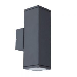 LED Wandleuchte Columin eckig in anthrazit - up&down