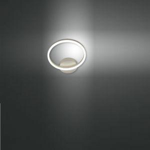 LED Wandleuchte Giotto Metall Ø 30cm in weiß weiß