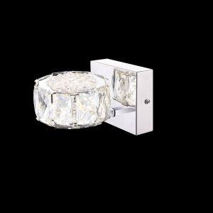 LHG LED Wandleuchte mit klaren Kristallen 8W 1-flammig 4000K - inklusive  LED Taschenlampe