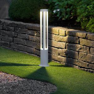 LHG LED Wegeleuchte, Weiß, Außenleuchte,  Gratis Spannungsprüfer